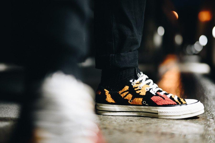 נעליים קונברס לנשים Converse Undefeaded Chuck 70 OX - שחור הדפס