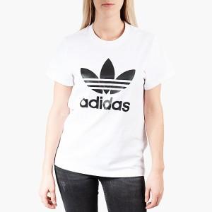 ביגוד Adidas Originals לנשים Adidas Originals Boyfriend Trefoil - לבן