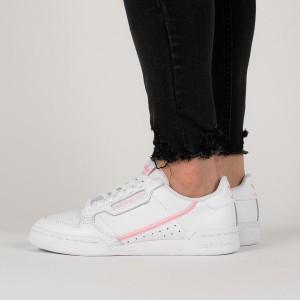 נעלי סניקרס אדידס לנשים Adidas Originals Continental 80 J - לבן/ורוד