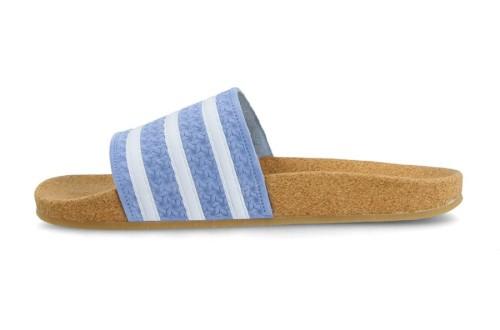 כפכפים Adidas Originals לנשים Adidas Originals Klapki Adilette Cork - חום בהיר