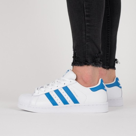 נעליים Adidas Originals לנשים Adidas Originals Superstar Foundation  - כחול/לבן