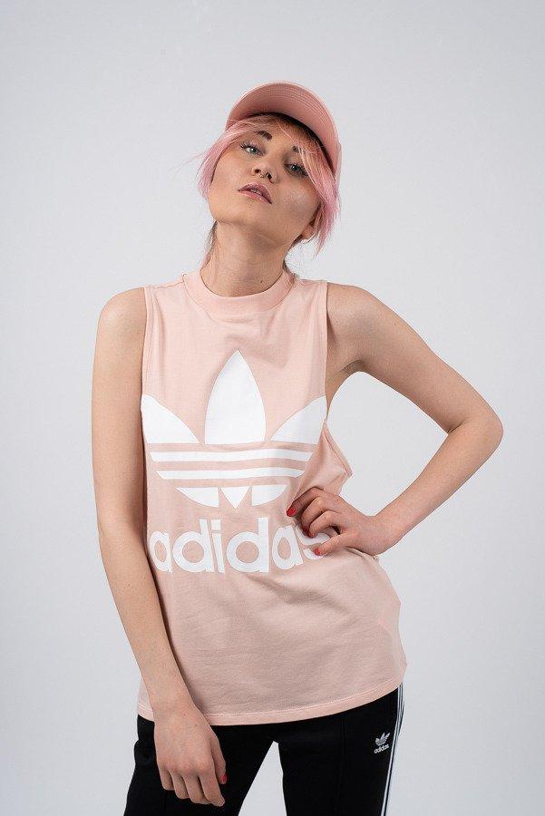 ביגוד Adidas Originals לנשים Adidas Originals Trefoil Tank - ורוד בהיר