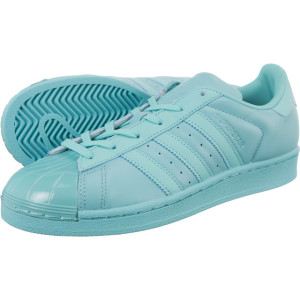 נעליים Adidas Originals לנשים Adidas Originals Superstar Glossy Toe - טורקיז
