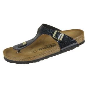 נעליים בירקנשטוק לנשים Birkenstock Gizeh BF Magic Snake Black - שחור