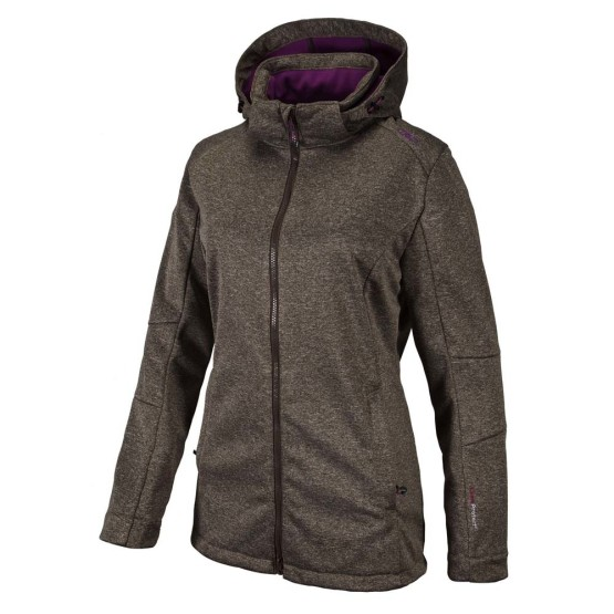 בגדי חורף סמפ לנשים CMP  Fix Hood Jacket Melange - חום