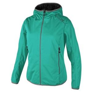 בגדי חורף סמפ לנשים CMP  Fix Hood Reverse Jacket - טורקיז