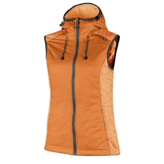 בגדי חורף סמפ לנשים CMP  Fleece Vest - כתום