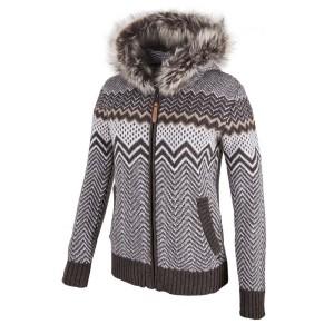 בגדי חורף סמפ לנשים CMP  Knitted Pullover Fix Hood - אפור