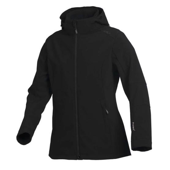 בגדי חורף סמפ לנשים CMP  Softshell Jacket Zip Hood - שחור