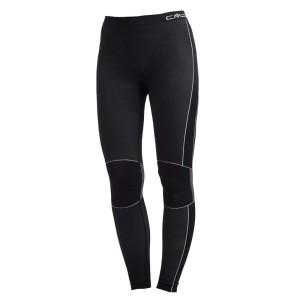 ביגוד סמפ לנשים CMP  Underwear Long Pants Seamless - שחור