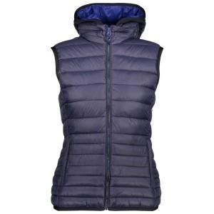 בגדי חורף סמפ לנשים CMP  Zip Hood Vest - כחול