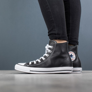 נעליים קונברס לנשים Converse CHUCK TAYLOR ALL STAR LEATHER High Top - שחור