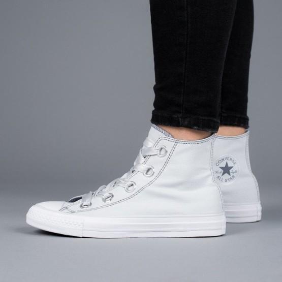 נעליים קונברס לנשים Converse Chuck Taylor AS Big Eyelets High Top - אפור בהיר