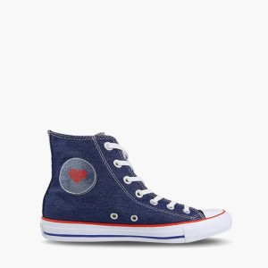 נעליים קונברס לנשים Converse Chuck Taylor All Star Denim Love High Top - כחול