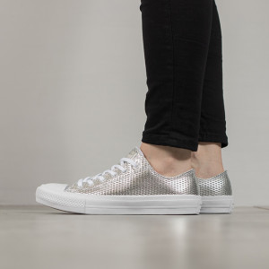 נעליים קונברס לנשים Converse Chuck Taylor All Star II Low Top - כסף