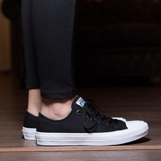 נעליים קונברס לנשים Converse Chuck Taylor All Star II OX Low Top - שחור
