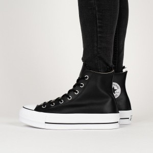נעליים קונברס לנשים Converse Chuck Taylor All Star Lift Leather High Top - שחור