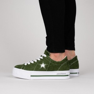 נעליים קונברס לנשים Converse One Star Platform OX - ירוק