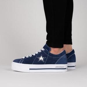 נעליים קונברס לנשים Converse One Star Platform OX - כחול