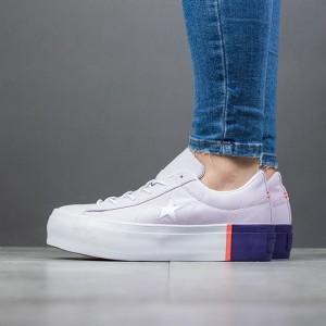 נעליים קונברס לנשים Converse One Star Platform - סגול בהיר