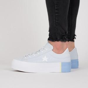 נעליים קונברס לנשים Converse One Star Platform - תכלת