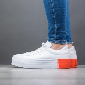 נעליים קונברס לנשים Converse One Star Platform - לבן/כתום