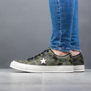 נעליים קונברס לנשים Converse One Star - ירוק