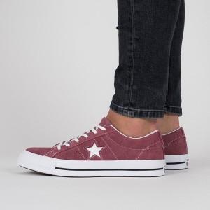 נעליים קונברס לנשים Converse One Star - בורדו/אדום