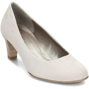 נעלי עקב נמוכות גאדור לנשים Gabor 8520039 - לבן/אפור