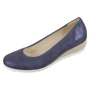 נעליים גאדור לנשים Gabor Genua Nightblue Silk Metallic Jute - כחול