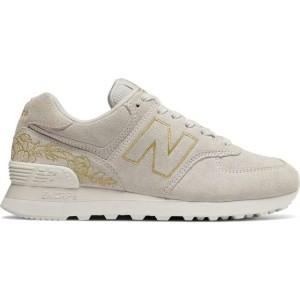 נעליים ניו באלאנס לנשים New Balance WL574NGA FLORAL - בז'