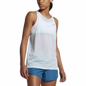 ביגוד נייק לנשים Nike  Breathe Tank - לבן