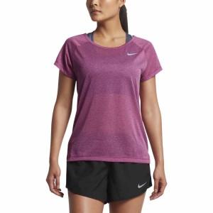 ביגוד נייק לנשים Nike  Breathe Top S/S - סגול