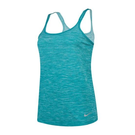 ביגוד נייק לנשים Nike  Dri Fit Knit Tank - טורקיז