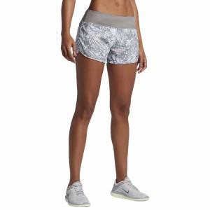 ביגוד נייק לנשים Nike  Flex Short 3In Rival Printed SU - אפור/לבן