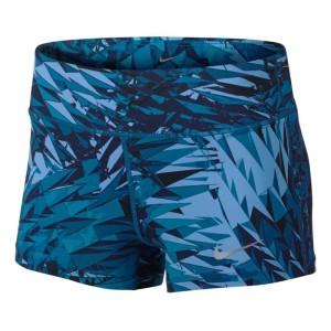 ביגוד נייק לנשים Nike  Power Epic Lux Short 3In Printed - כחול