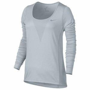 ביגוד נייק לנשים Nike  ZNL Cool Relay L/S Top - אפור