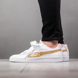 נעליים פומה לנשים PUMA Basket Heart Glitter - לבן