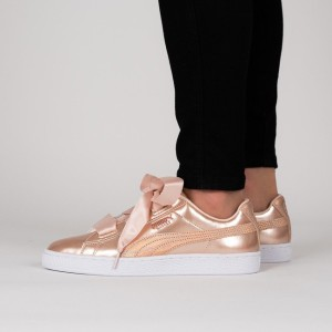 נעליים פומה לנשים PUMA Basket Heart Lunar Lux - זהב