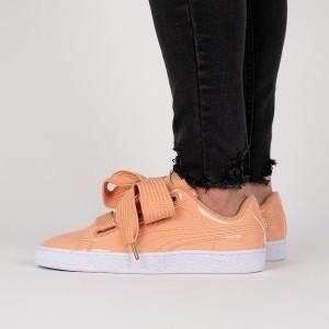 נעליים פומה לנשים PUMA Basket Heart Patent - כתום