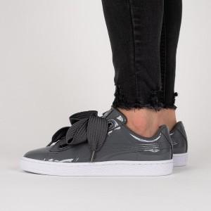 נעליים פומה לנשים PUMA Basket Heart Patent - אפור