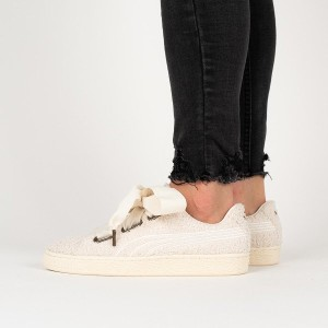 נעליים פומה לנשים PUMA Basket Heart Teddy - לבן