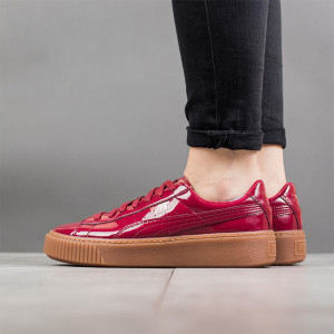 נעליים פומה לנשים PUMA Basket Platform Patent Wns - אדום