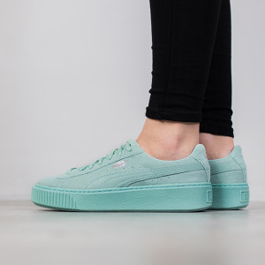 נעליים פומה לנשים PUMA Basket Platform Reset - מנטה
