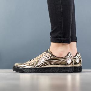 נעליים פומה לנשים PUMA Basket Xl Lace Metal - זהב