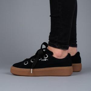 נעליים פומה לנשים PUMA Platform Kiss Suede - שחור