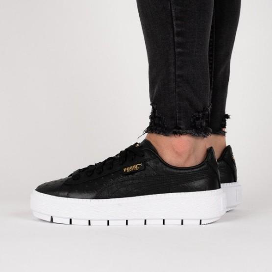 251dd6e63cd920 נעליים פומה לנשים PUMA Platform Trace Ostrich Wns - שחור