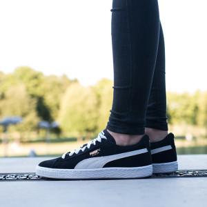 נעליים פומה לנשים PUMA Suede Jr - שחור/לבן