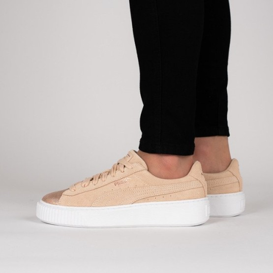 9fdba8c79f92 נעליים פומה לנשים PUMA Suede Platform LunaLux - בז