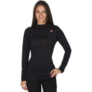 ביגוד ריבוק לנשים Reebok CrossFit Jaqcuard Hoodie - שחור